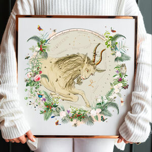 Capricorn Constellation Zodiac Horoscope Print