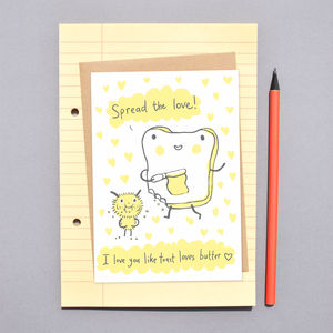 'Spread The Love' Valentines Card