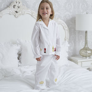 Girl's Personalised London Cotton Pyjamas