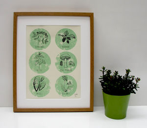 Art Print 'The Forager' A Two Colour Screen Print - posters & prints