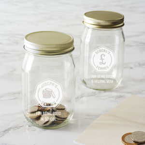Personalised Money Jar For Kids - kitchen accessories