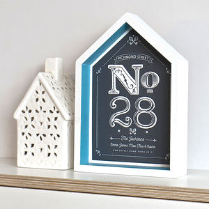 Framed New Home House Number Print - picture frames