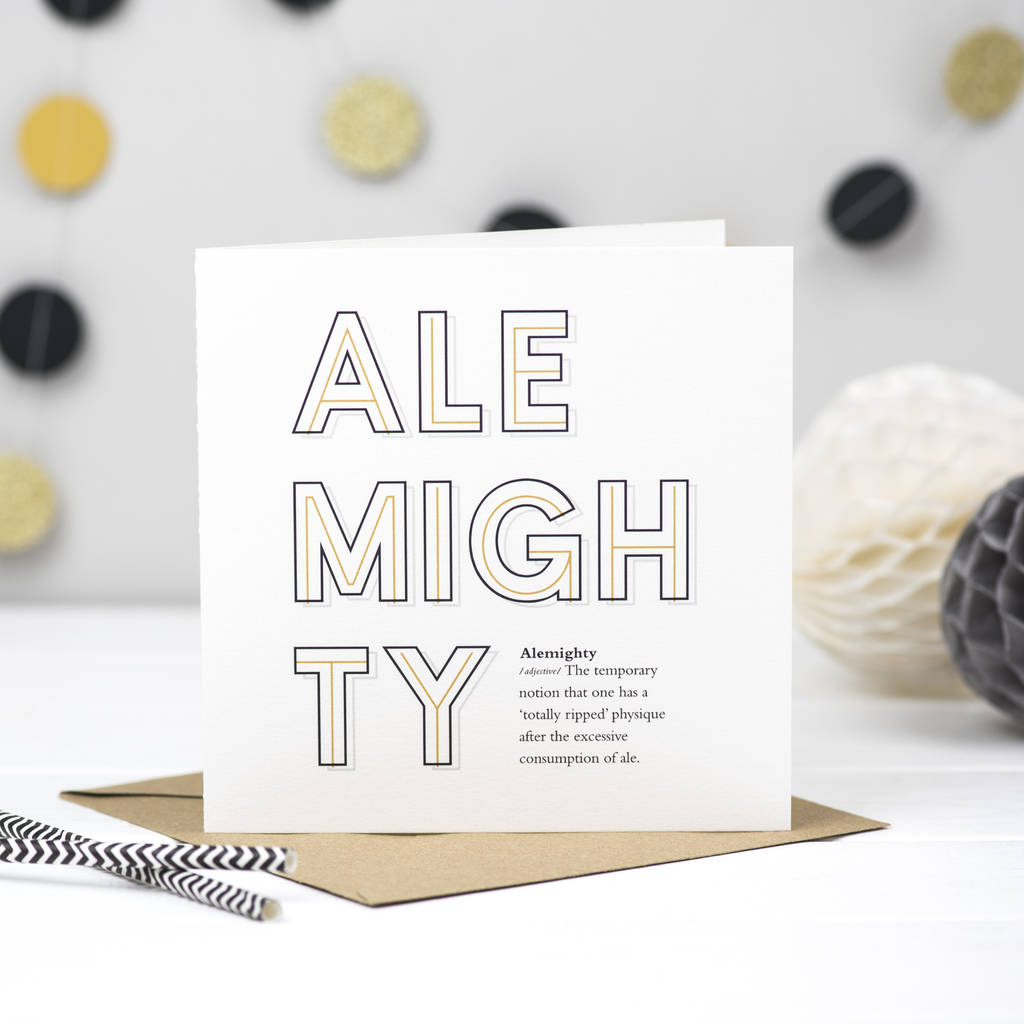 'Alemighty' Ale Card