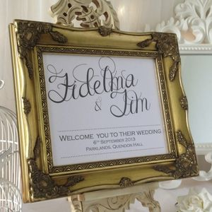 Welcome Personalised Wedding Sign - outdoor wedding signs