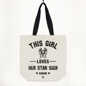 Gemini Women's Zodiac Star Sign Tote Bag