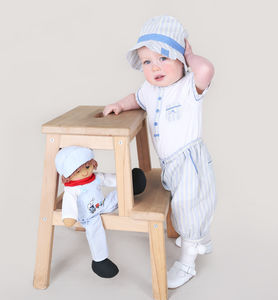 Baby Boy French Designer Three Piece Stripe Outfit