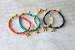 Children's Starfish Charm Bracelet - children's jewellery