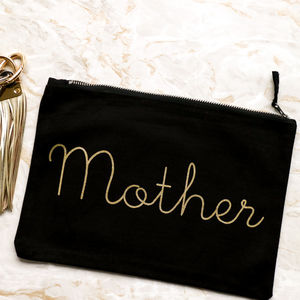 'Mother' Canvas Clutch - fashion accessories