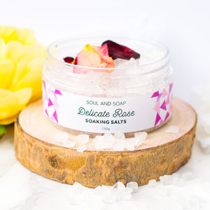 Delicate Rose Soaking Salts - massage & aromatherapy