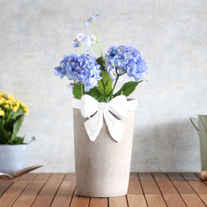Ceramic Vase With Ribbon Design - table decoration