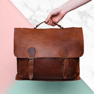Personalised Leather Classic Messenger - gifts for him