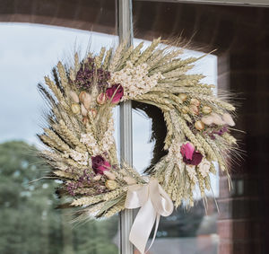 Burgundy Wheat Wreath - table decorations