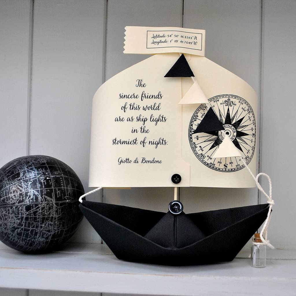 Literary Quote Boat Card Gift By The Little Boathouse