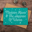 Mistletoe Kisses Christmas Card