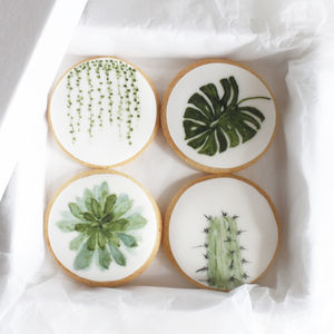 Botanical Biscuit Gift Set - wedding favours