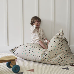 Amely Green Sparks Bean Bag, Designed By Nobodinoz - children's room