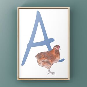 Chicken Alphabet Art Print