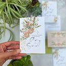Botanical Boho Folded Wedding Invitation