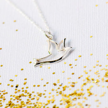 Dove Of Peace Silver Necklace