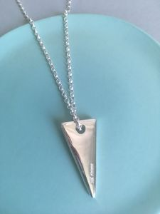 Infinity Solid Silver Triangle Necklace