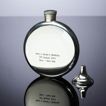 Personalised Pewter Hipflask