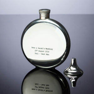 Personalised Pewter Hipflask - best man & usher gifts