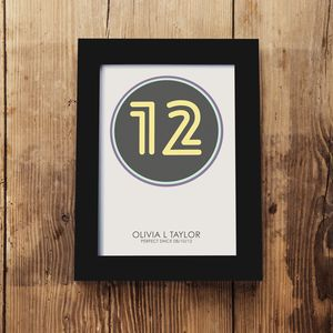 Children's Birthday Framed A5 Print - personalised