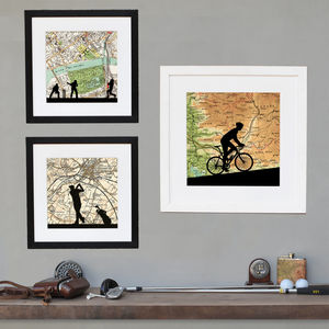 Personalised Cycling, Golf Or Cricket Print