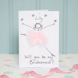 Handmade Personalised Will You Be My Bridesmaid Card