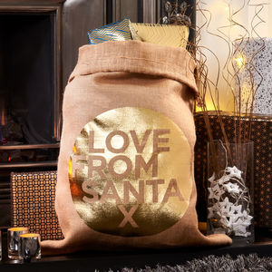 Love From Santa Christmas Sack Stocking - stockings & sacks