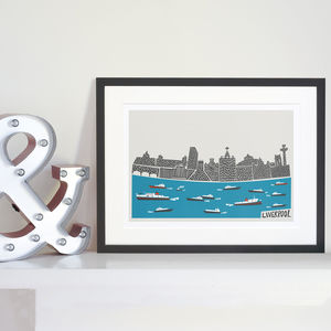 Liverpool Skyline Print - architecture & buildings