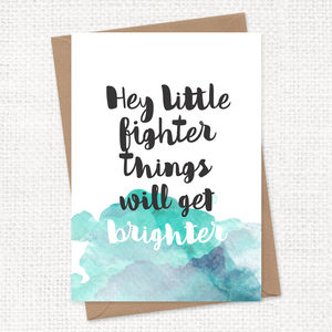 Personalised Things Will Get Brighter Card A5 - sympathy & sorry cards
