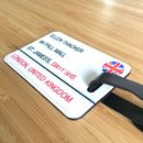 Luggage Tag Personalised British Street Sign