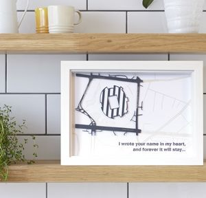 Any Football Stadium Street Map Framed Football Gift - gifts for him