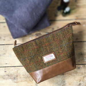 Harris Tweed Washbag - make-up & wash bags