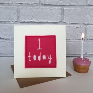 Birthday Age Card - birthday cards