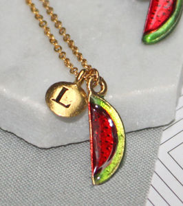 Personalised Watermelon Charm Necklace