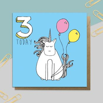 Unicorn Age Card: Ages One To 10