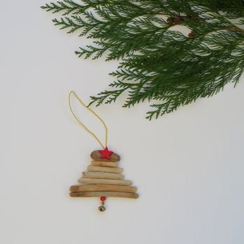Handmade Small Driftwood Christmas Tree Decoration