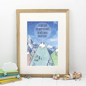 Let Her Sleep Nursery Print - baby's room