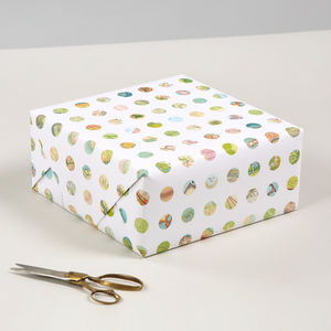 Map Dots Luxury Heavyweight Wrapping Paper