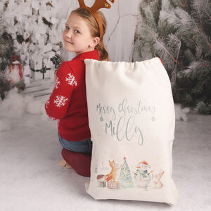 Personalised Animal Friends Large Christmas Gift Sack