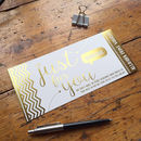 Metallic Personalised Home Print Voucher