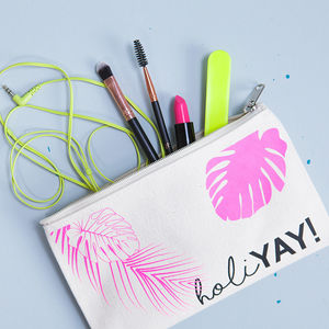 Personalised Holiday Beach Makeup Bag - summer beauty & toiletries