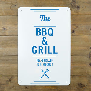Bbq And Grill Sign - art & decorations