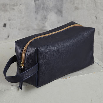 Soft Leather Wash Bag