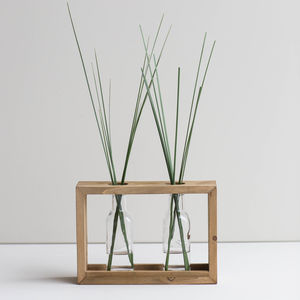 Double Framed Stem Vase - dining room