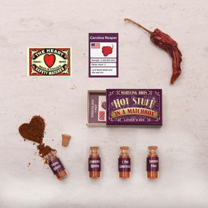 Lover's Mix Hottest Chilli Powders In A Matchbox - funny valentine's gifts