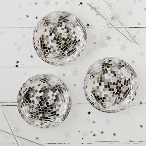Disco Ball Party Plates - new years eve entertaining