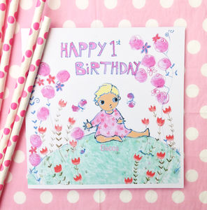 Personalised Baby Birthday Card